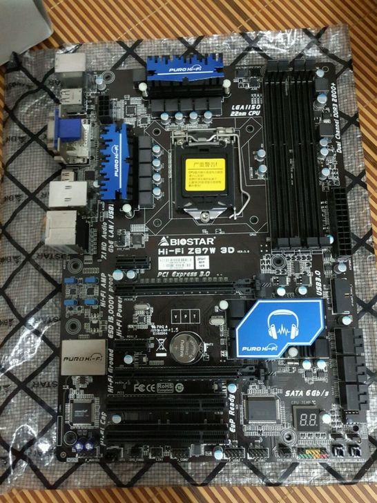 Б/у, 100% оригинал для Biostar Hi Fi Z87W LGA 1150 DDR3 Оперативная память 32G материнская плата, 100% тестирование Хорошее