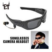 ET okulary przeciwsłoneczne z kamerą zestaw słuchawkowy HD1080P Bluetooth odtwarzacz MP3 zdjęcie wideorejestrator Mini kamera dv do zewnętrznych okularów Mini