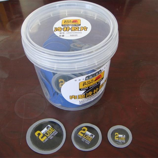 35mm rodada patch/200 pçs/caixa/natureza borracha patch/remendo de reparação de pneus