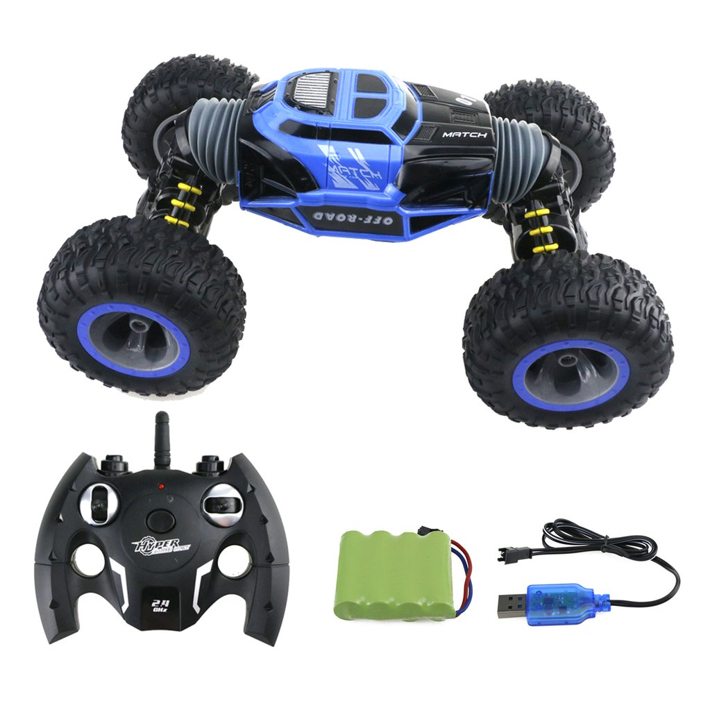 все цены на RC Car 4WD Truck Scale Double-sided 2.4ghz One Key Transformation All-terrain Vehicle Varanid Climbing Car Remote control Toys онлайн