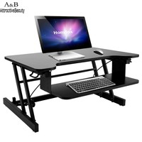 Homdox Adjustable Height Wide Sit Sturdy Standing Desk With Retractable Keyboard Tray N40