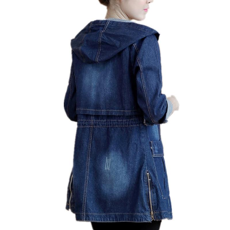 Kovboy rüzgarlık 2020 ilkbahar ve sonbahar yeni Kore versiyonu kapüşonlu gevşek büyük boy şişman MM kadın öğrenci ceket kadın