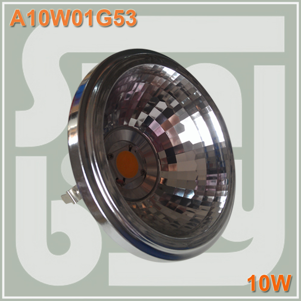 Free shipping LED AR111 with reflector 10W COB G53 with Transformer replace to 100W bulb high lumens high quality пила huter bs 52 70 6 3