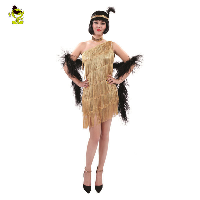 Womens Yellow Sequin Flapper Dress Costume adult 1920 s fancy dress Cosplay  Party Costumes 01cb41d9a7ee
