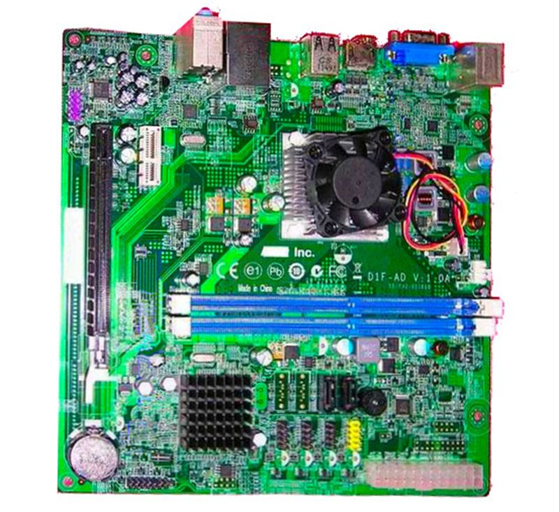 ФОТО High quality X1430 system Motherboard for D1F-AD ITX V:1.0A 15-Y32-011010 AMD APU E350 DDR3 board