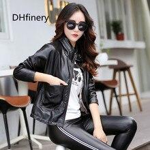 цена leather jacket women Autumn Winter Faux Leather Jackets Lady Long design Motorcycle Style Lady black red Trench Coat 6721 в интернет-магазинах