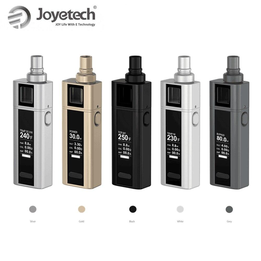 ¡Caliente! Original Joyetech Cuboid Mini Kit 80 W 2400 mAh batería 5 ml atomizador capacidad Control de temperatura espiral boquilla en oferta