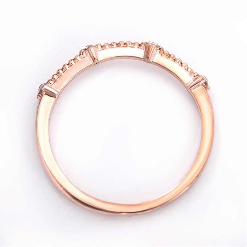 יפן ודרום קוריאה ריינסטון טבעות נשים כסף זהב טבעות טרי חתונה נשי קסם Knuckle טבעת קריסטל תכשיטים