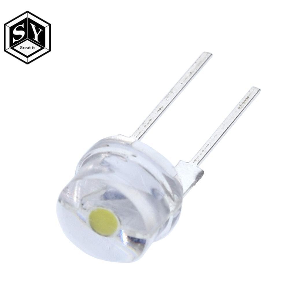50 PCS 0.5W 8mm Yellow Straw Hat High-power LED Leds Light Lamp StrawHat