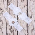 Sexy Wedding Accessories 2pcs/set Wedding Garters Blue Bridal Lace Leg Garter Cinta Liga Porte Jarretelles Hot Leg Ring 1 set