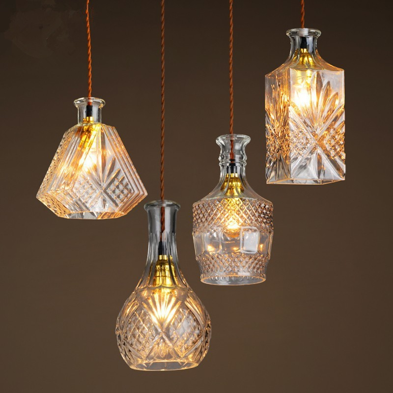 Popular light bottles buy cheap light bottles lots from china light bottles suppliers on - Glass bottle chandelier ...