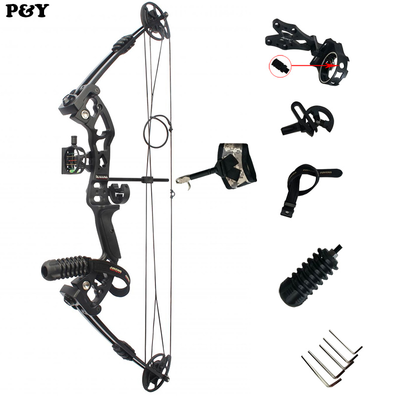 купить Original junxing M131 Compound Bow Hunting Right Hand With 40-55lbs Draw Weight For Human Outdoor Shooting Athletics Bow Set по цене 18946.14 рублей