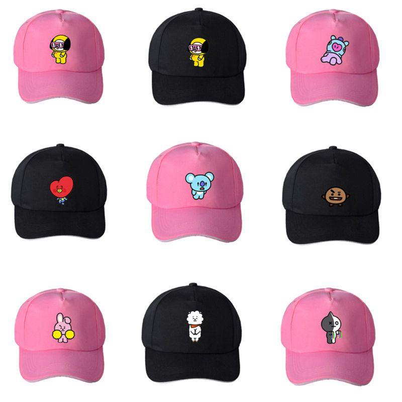 Baseball-Cap Peak-Hat Snapback Round-Top Animal-Printed Unisex Kpop Women Adjustable