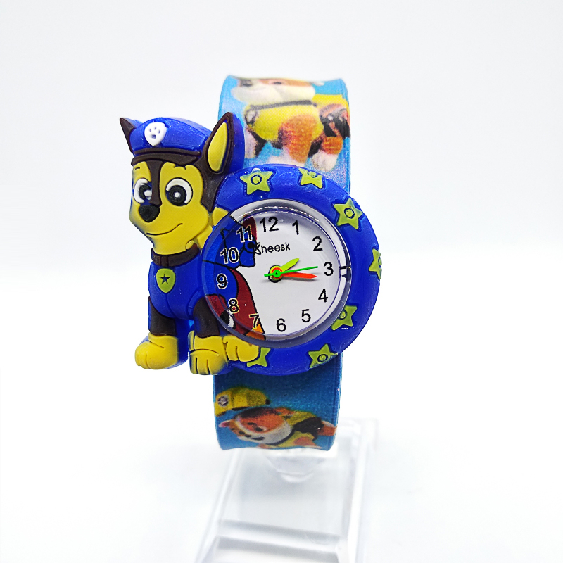 1pcs/lot Free Shipping High Quality Silicone Slap Watch, Kids Slap Watches Animal Team Children Watch, Girls Boys Students Clock(China)