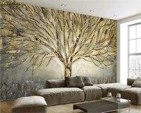 Обои на заказ, фотообои, абстрактная елка, Современная Американская металлическая рельефная картина маслом, ТВ, фоновая настенная бумага