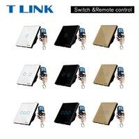 EU UK Standard TLINK Remote Control Switch 1 Gang 1 Way RF433 Smart Wall Switch Wireless