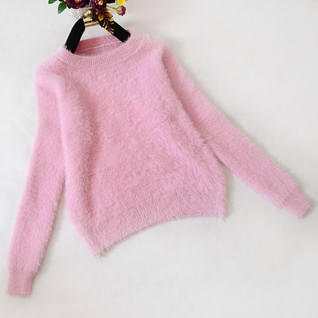 Fluffy Sweater Pull Femme Women Sweaters And Pullovers 2017 Cashmere Korean  Tricot Autumn Winter Warm Jumper Pullover Mohair fcc4995e9da1