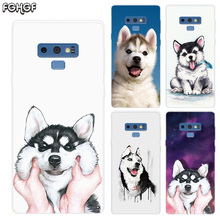 Cute Husky Transparent Soft Print Hull Shell Case For Samsung Galaxy Note 8 9 5 4 3 C5 C7 C8 C9 Cover