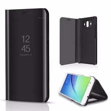 For Huawei Mate 10 Pro Case  Luxury Flip Stand Clear View Smart Mirror Phone Case For Huawei P10 P9 P8Lite/P10 Plus leather Case