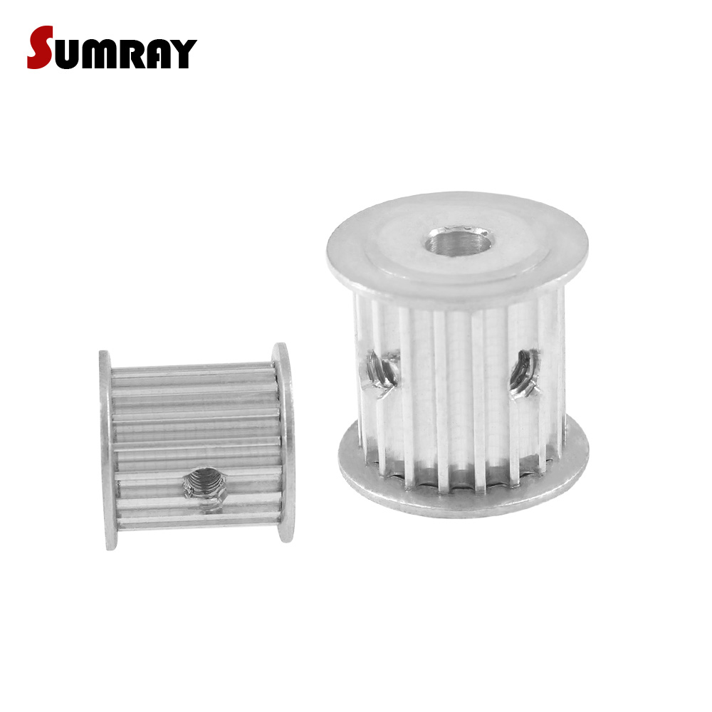 SUMRAY 3M 20T Timing Pulley 4/5/6/6.35/8/10/12mm Bore Timing Belt Pulley 16mm Belt Width 3mm Pitch For HTD 3M Timing Belts 2PCSSUMRAY 3M 20T Timing Pulley 4/5/6/6.35/8/10/12mm Bore Timing Belt Pulley 16mm Belt Width 3mm Pitch For HTD 3M Timing Belts 2PCS