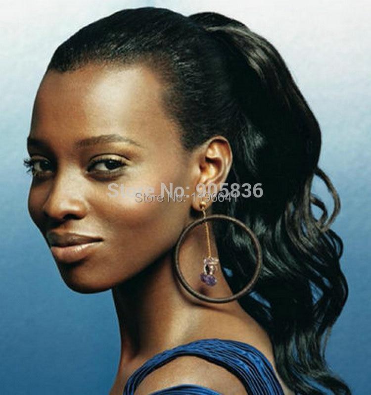 Brazilian Body Wave Drawstring Ponytail For Black Women