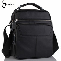 ZZNICK 2017 New 100 Genuine Leather Bag Men IPad Tabelt Cowskin Crossbody Bag Top Quality Men