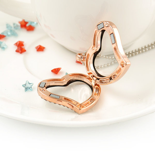 Online shop lovely jewelry living memory floating locket love lovely jewelry living memory floating locket love heart round charm pendant necklace women gift 2 color pick free shipping mozeypictures Image collections