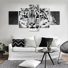 Blue Eyes Tiger Living Room Decorative Posters And Prints Painting Module Mural Animal Home Decoration Canvas