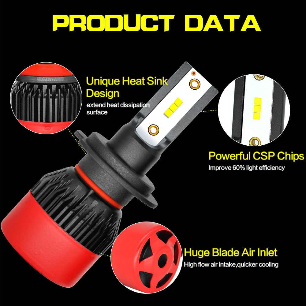JGAUT Car Headlights Mini Bulb H7 H8 H9 H11 LED H4 H1 9005/HB3 9006/HB4 9012 70W 9000Lm 6000K 12V 24V Auto Fog Light Headlamp