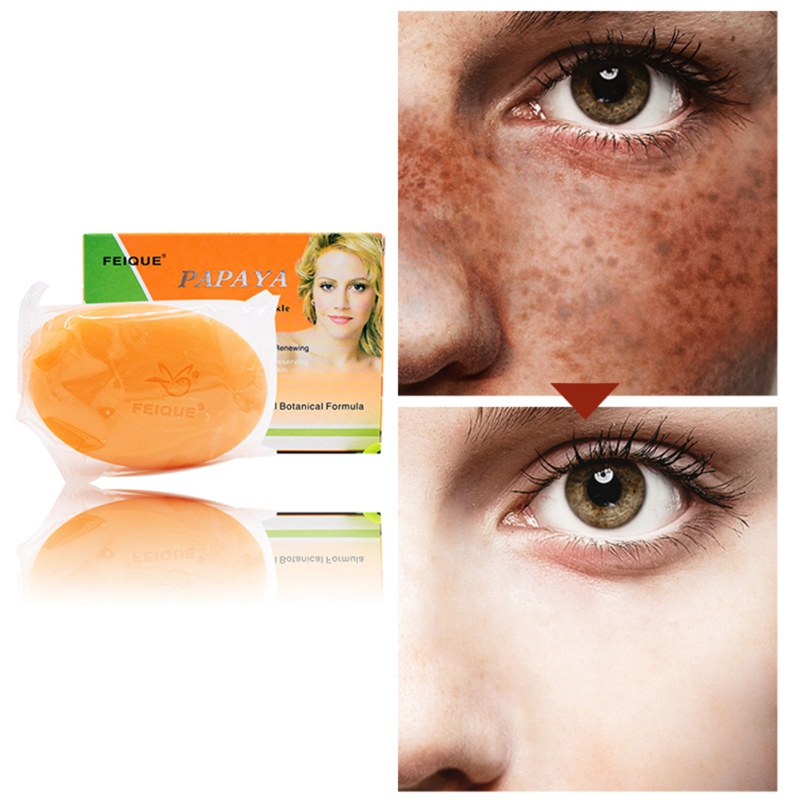 Natural Botanical Formula Papaya Whitening Anti-freckle Soap Face Care Wash Basis Soap