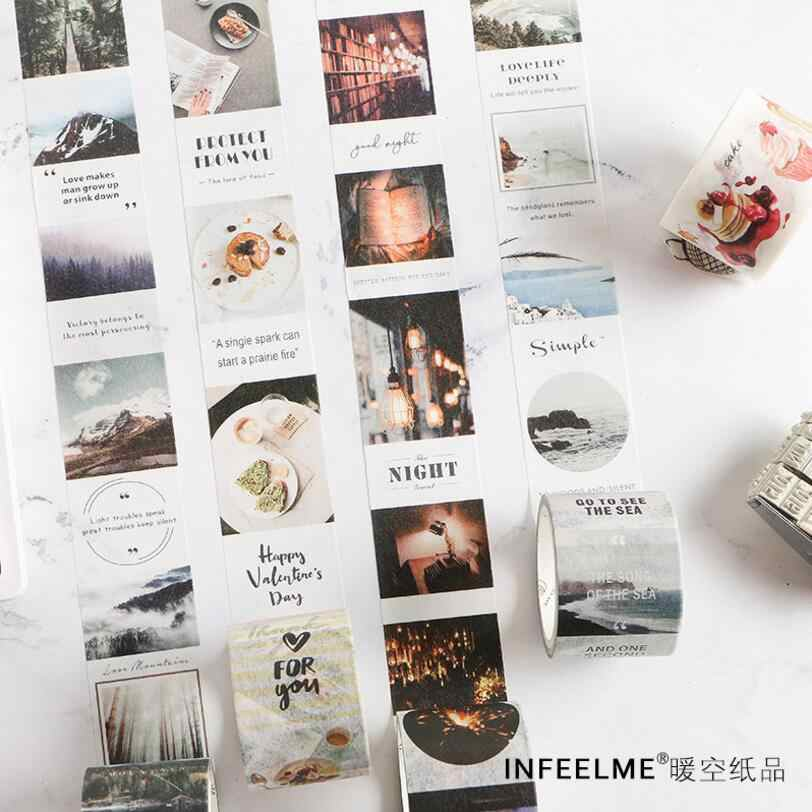 Travel Planner Washi Tape Life Collage Tape DIY Decorative Scrapbooking Masking Tape Adhesive Washi Tape Set Label Sticker
