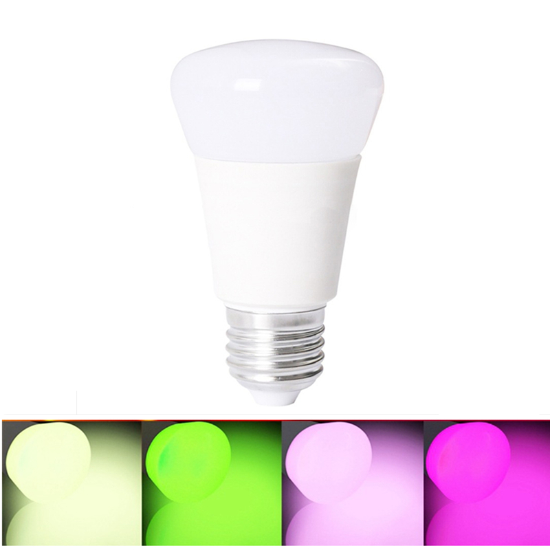 10X 10W RGB E27 LED Lamp Light Stage Lamps 12 Colors with Remote Controller LED Lanterns for Home AC 85-265V RGB + Cool W agm rgb led bulb lamp night light 3w 10w e27 luminaria dimmer 16 colors changeable 24 keys remote for home holiday decoration