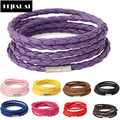 Braided Leather Bracelet  Multilayer Chain Wrap Bangles 10 Colors Fashion Handmade Punk Men Jewelry for Women Pulseira Masculina