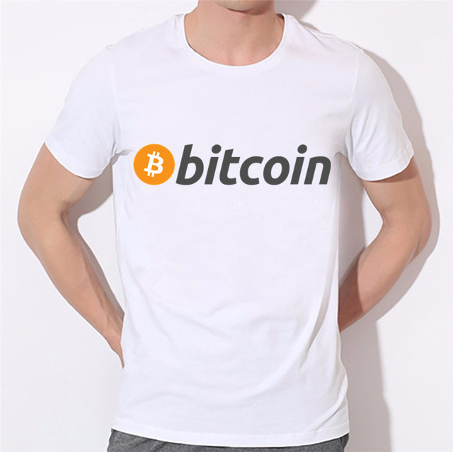 Men's Pocket Bitcoin Cartoon Cool Funny T-shirts Cryptocurrency Ethereum Bit Coin Coin T Shirts For Man Round Neck White Tshirts 2