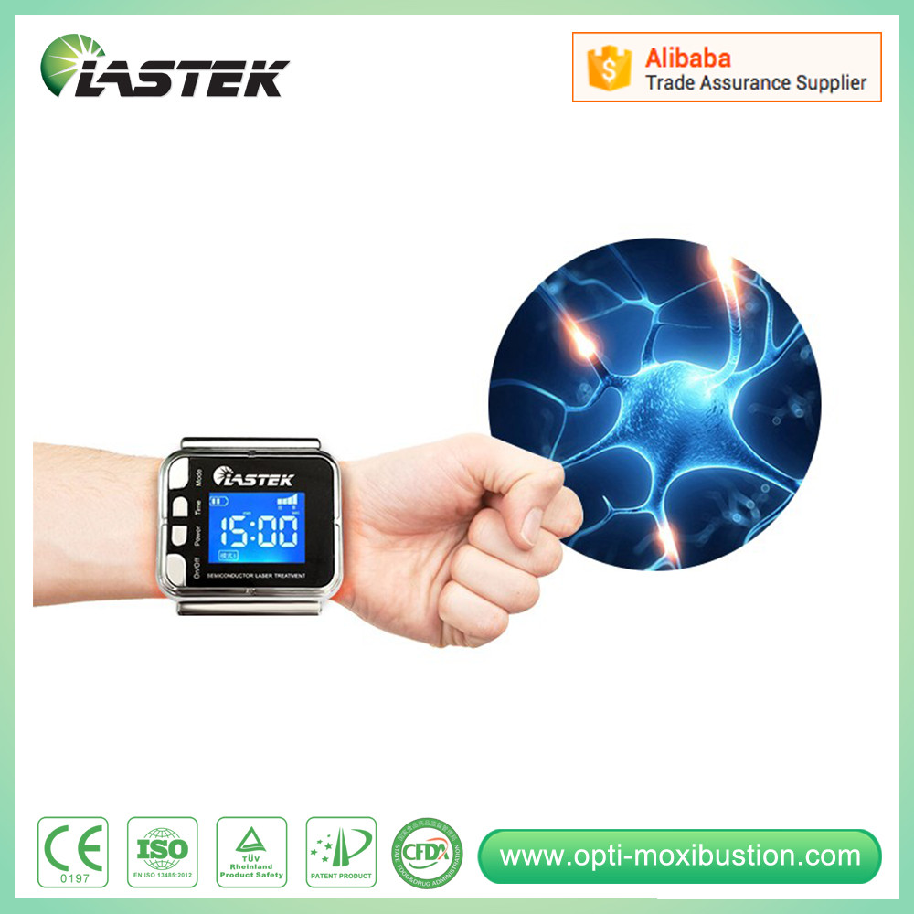 Health Care and Medical Care Reduce Blood Pressure lllt 650nm Wrist Laser Therapeutic Apparatus hot sale wrist type laser watch istrument to reduce high sugar blood health