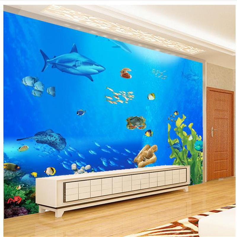 Beibehang 3d Wall Murals Wallpaper World Of Tropical Fish Fashion Tv Backdrop Murals Living Room Bedroom Murals Papel De Parede Wallpapers