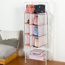 Visual multilayer wardrobe door back wall hanging bag 42*18*160cm