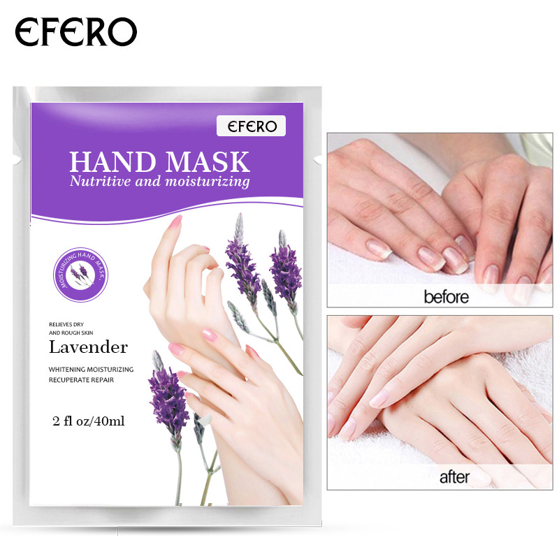 2pcs/1pair Lavender Baby Hand Mask Cream Moisturizing Whitening Hand Spa Gloves Dead Skin Remover Hand Spa Skin Care TSLM1 Pakistan