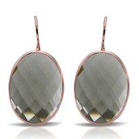 2017 Best Hot Sale 925 Sterling Silver Big Clear Gray Crystal Wedding Bohemian Earrings For Women Gift SE06