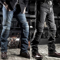 Komine Motorcycle Jeans Drop Resistance Slim Denim Automobile Racing Pants Motocross Hockey Pants Black/Blue