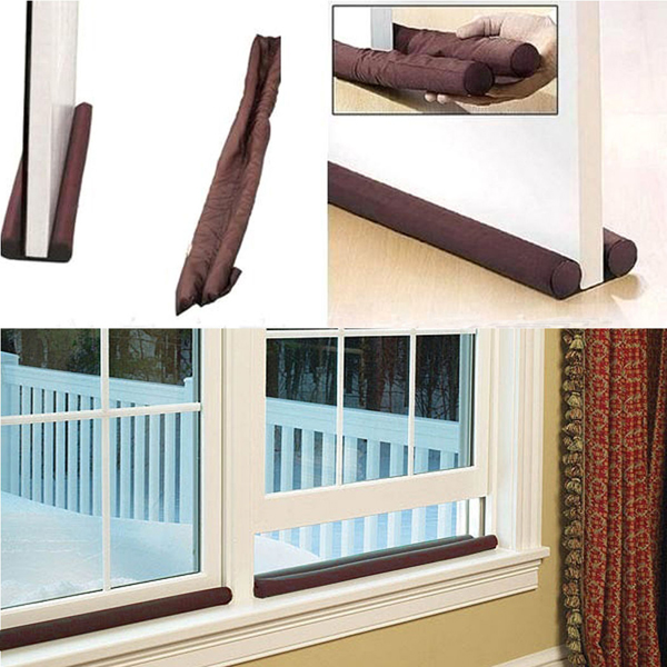 New Twin Door Drafts Dodger Guard Stopper For Doors Windows Protector Tools(China) & Online Buy Wholesale door draft stopper from China door draft ... Pezcame.Com