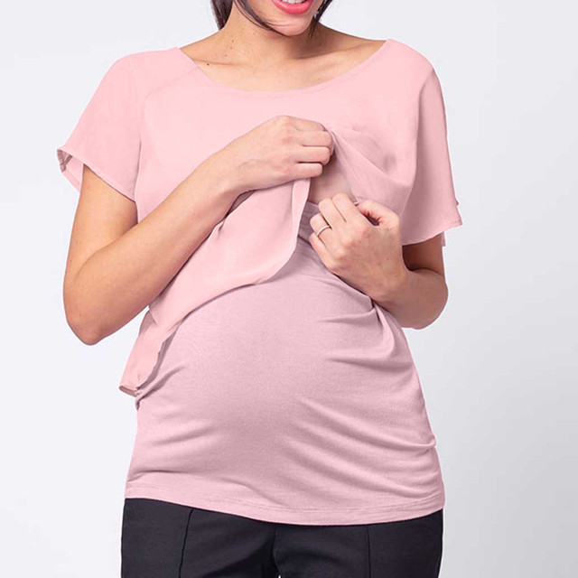 Casual Short Sleeve Shirt Maternity or Nursing