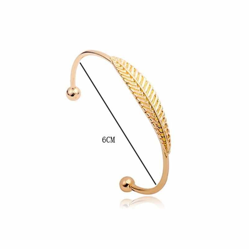 Pulseras de hoja Irregular creativas simples pulseras de puño abierto para mujeres brazaletes de declaración brazalete Voor vruwen Sieraden
