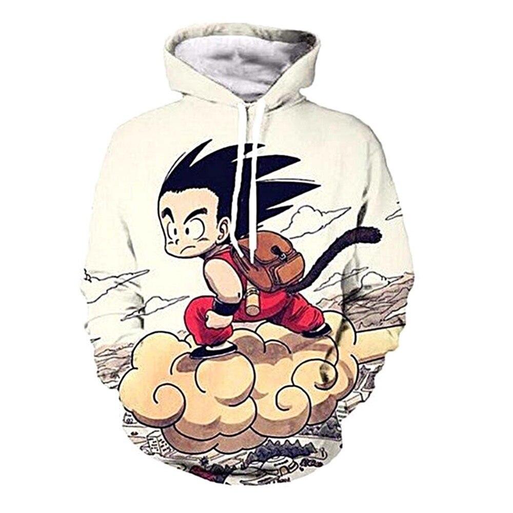 Anime Hooded Cosplay Cartoon Kid Goku Hoodies Pullovers Dragon Ball 3D Printing Hoodie