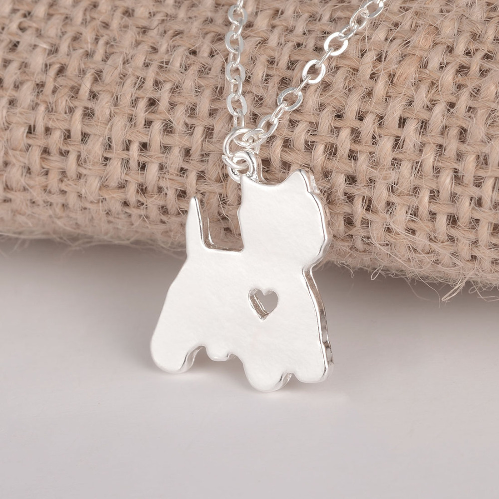 100pcs Yorkie Necklace Yorkshire Terrier Jewelry Custom Dog Necklace Dog Pendant Pet Jewelry Personalized Pets Dog Memorial Gift