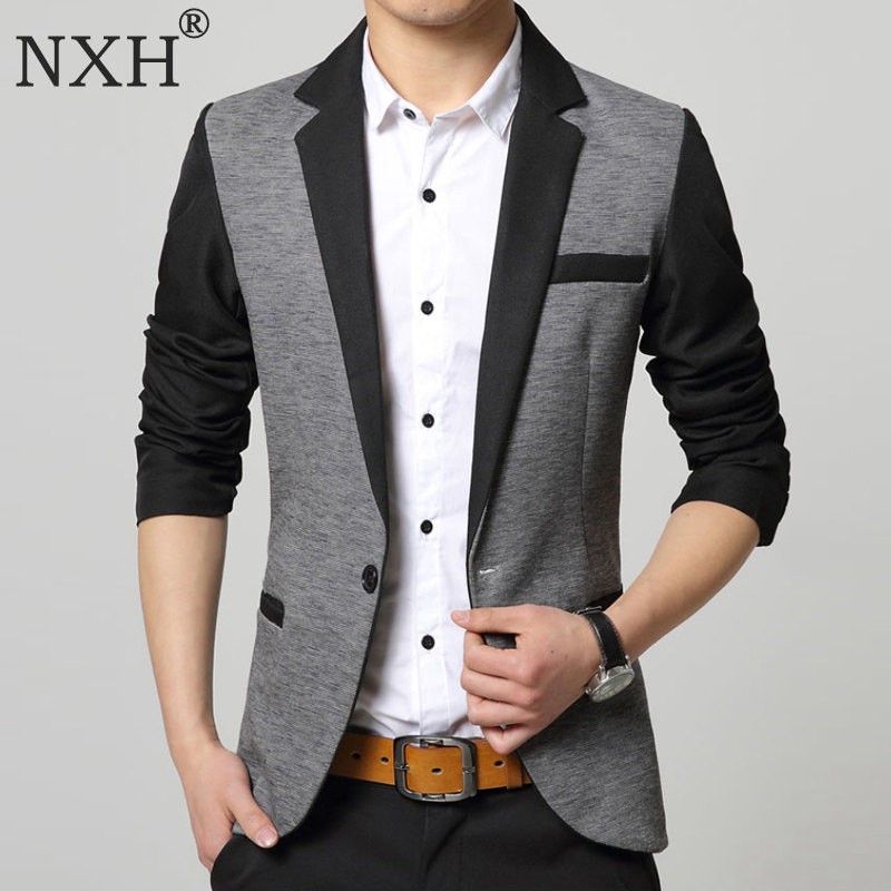 NXH 2016Custom Made Black Double Breasted Men Suits Wedding Suits For Men Costume Homme