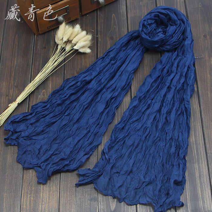 Bufandas largas a la moda para mujer, bufandas de colores de caramelo, hilo de algodón sólido, bufanda, chales para niñas