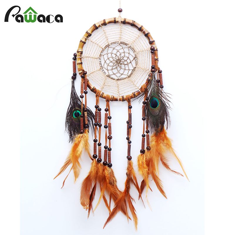 Cheap Home Decor Rattan Dream Catcher With Feathers Rome Wall Hanging Decoration Ornament Brand Dreamcatcher Home Decor Home & Garden