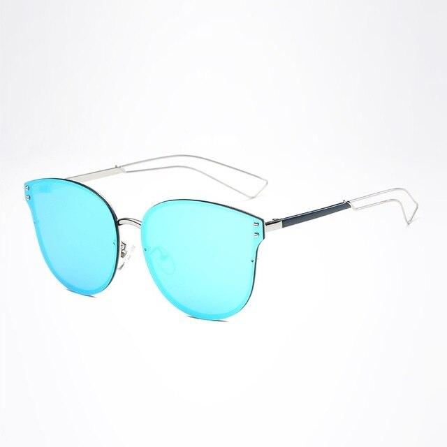 Width-140 Gato olho óculos sem aro das Mulheres Nova Cor Da Moda óculos de c3fbf1ebde