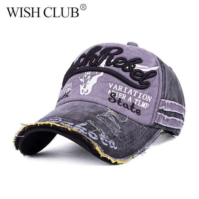 WISH CLUB Brand Men Baseball Caps Women Snapback Caps Bone Hats For Men  Fashion Vintage Hat Gorras Letter Cotton Unisx Cap-in Baseball Caps from  Men's